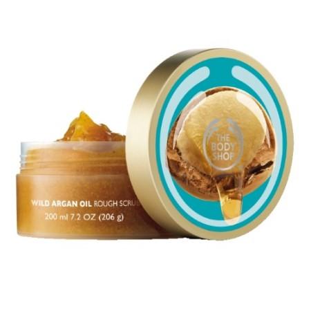 Body Shop Wild Argan Oil Exfoliating Gel Body Scrub