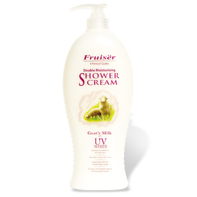 Fruiser Double Moisturising Shower Cream Goat's Milk with UV Whitening