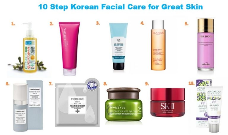10 step korean facial skincare