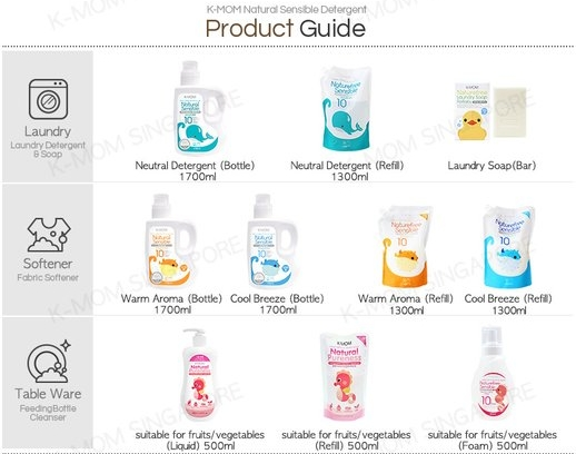 K-MOM Natural Sensible Premium Detergent Product Guide