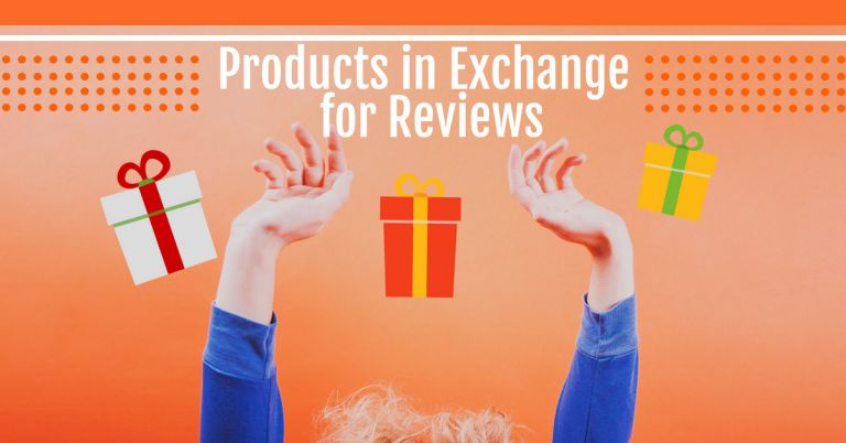 product in exchange for reviews