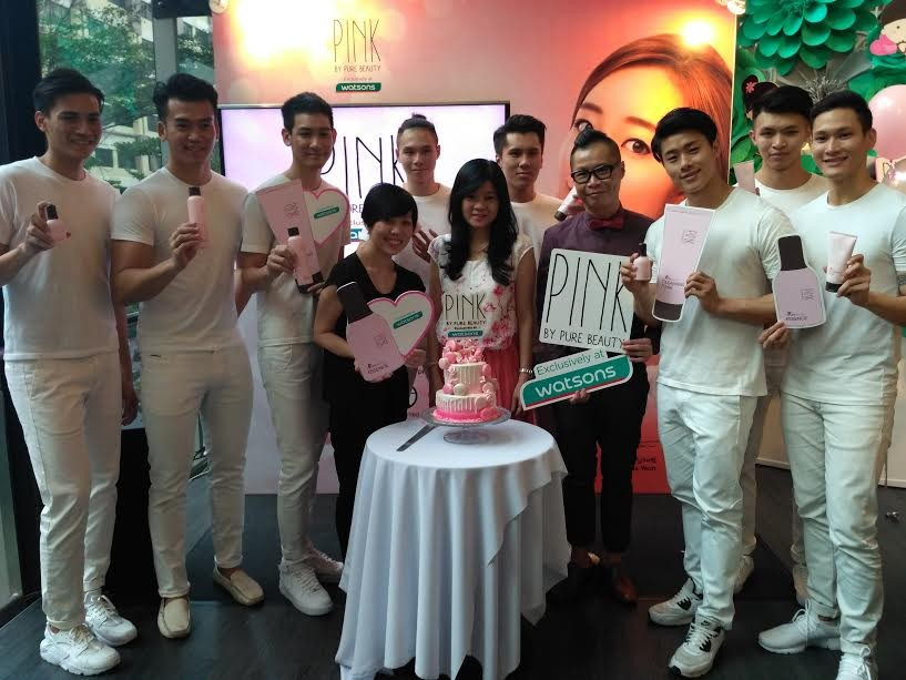 The Angels and Watsons team at the Pure Beauty Pore Perfection launch