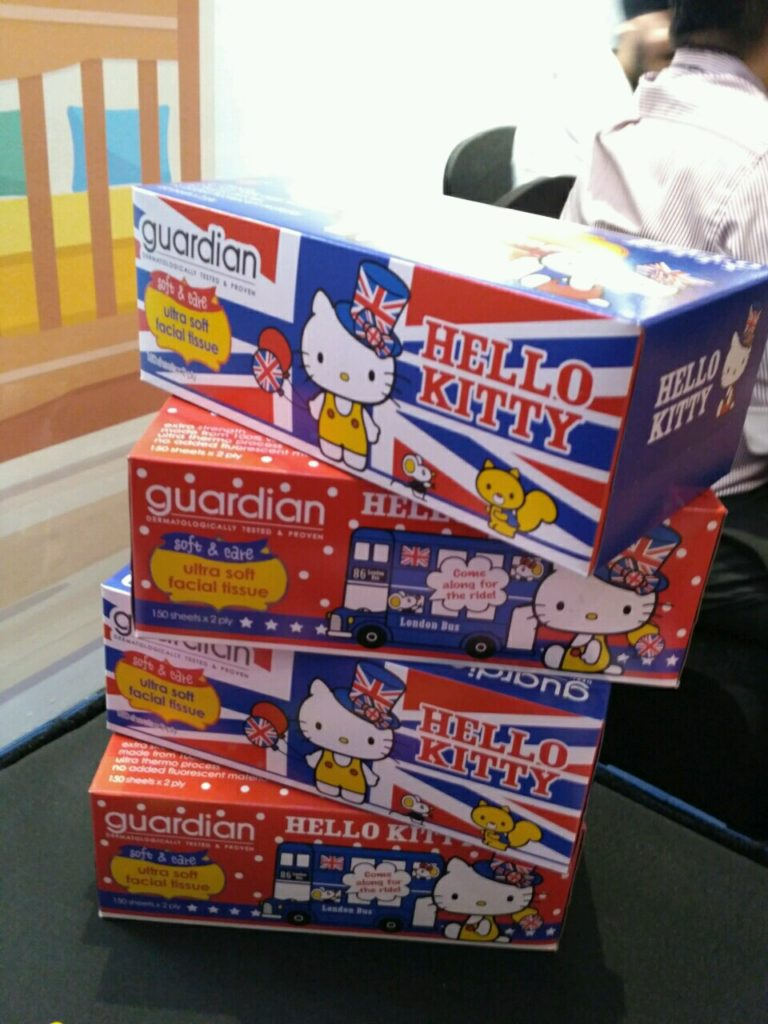 Guardian corporate brand products Hello kitty tissue