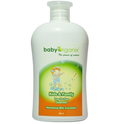babyorganix kids & family top to toe cleanser