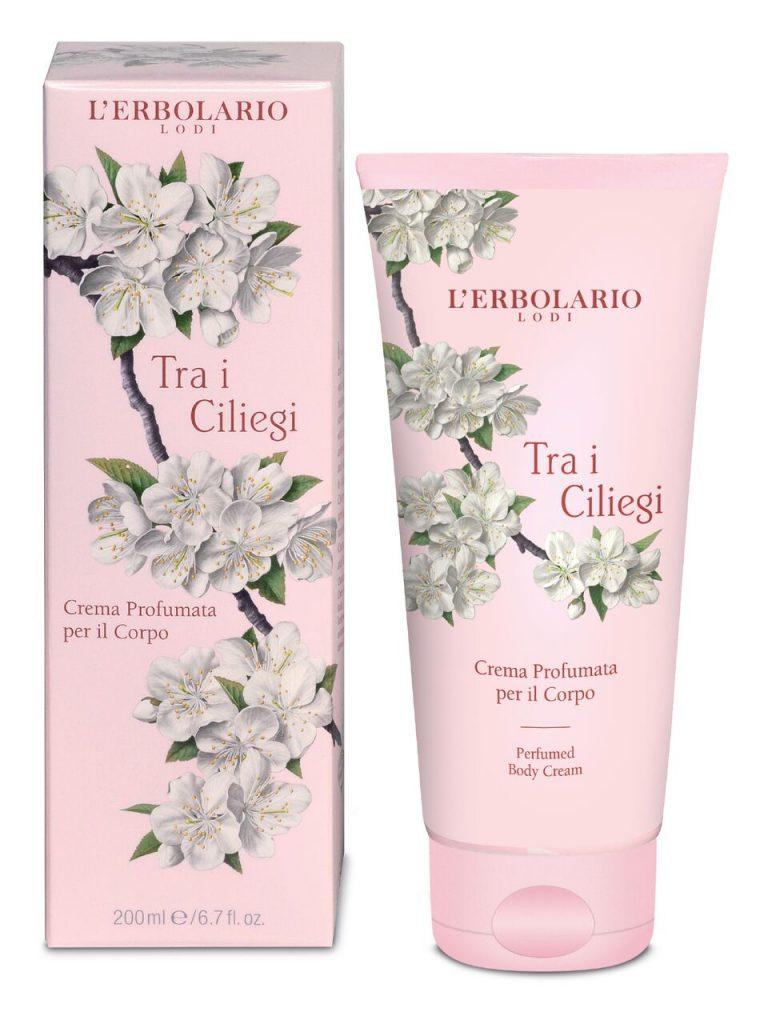 L'ERBOLARIO Perfumed Body Cream with Cherry Blossom & Italian Cherry Extract