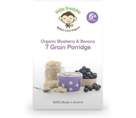 Little Freddie Organic Blueberry & Banana 7 Grain Porridge