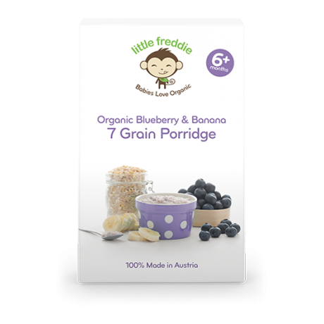 Little Freddie Organic Blueberry & Banana 7 Grain Porridge