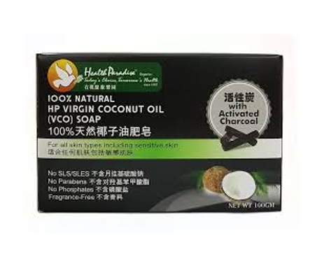 Health Paradise Virgin Coconut Oil VCO Soap Bar With Activated Charcoal