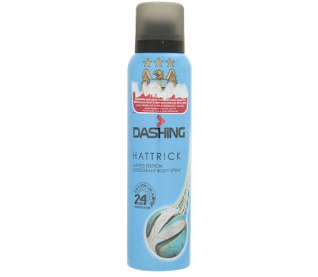 Dashing Limited Edition Deodorant Body Spray MCFC Hattrick