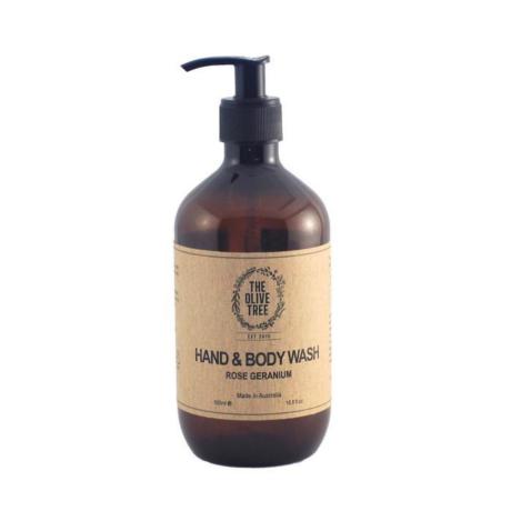 The Olive Tree Rose Geranium Hand & Body Wash
