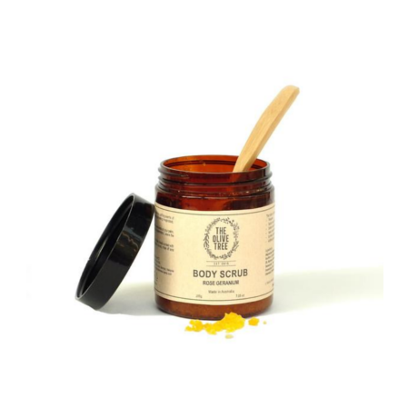 The Olive Tree Rose Geranium Body Scrub