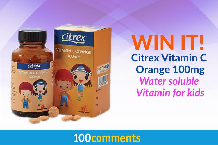 Citrex Vitamin C Orange 100mg Contest