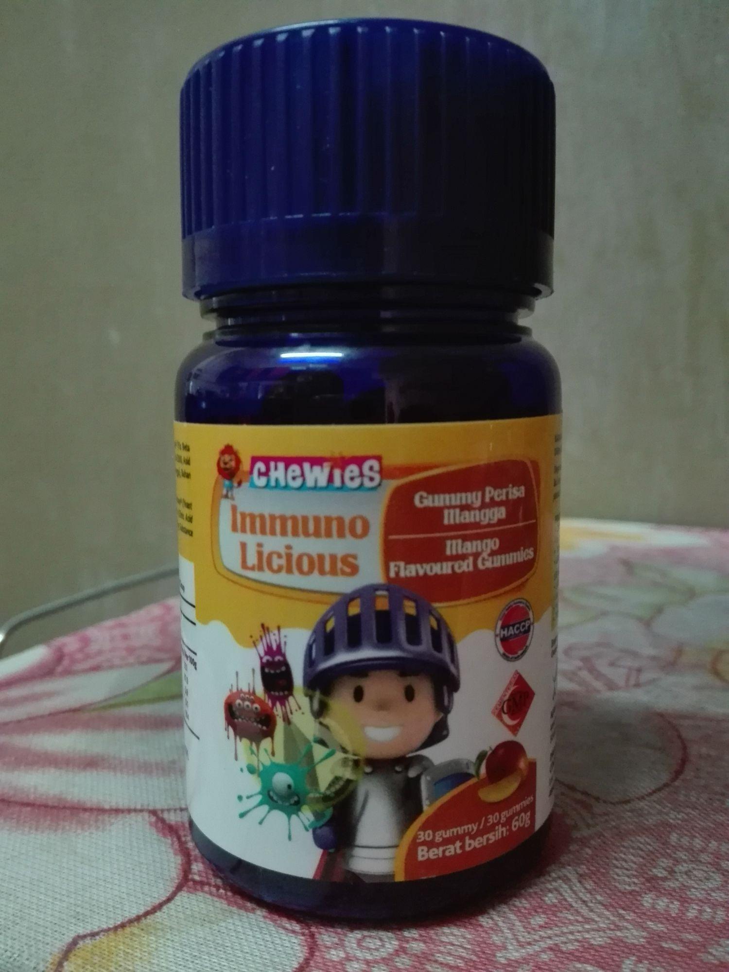 Chewies Immuno Licious Reviews Wellness Gummy Kids 30 Gummies Bentuk Jelly Yang Menarik Kanak