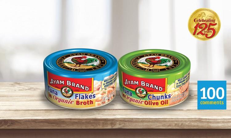 Ayam Brand Tuna Organic range