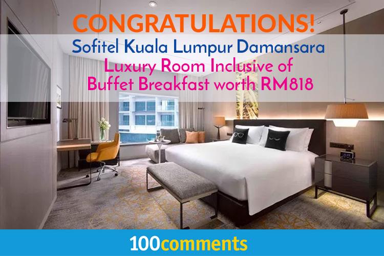 Contest Winners Announcement - Sofitel Kuala Lumpur Damansara
