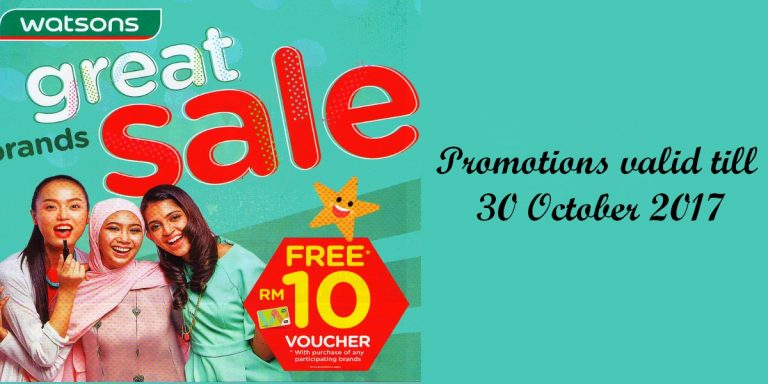 Watsons Great Brands Sale: October Promotion