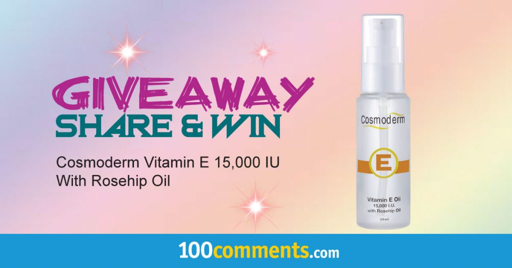 Cosmoderm Vitamin E 15,000 IU With Rosehip Oil Contest