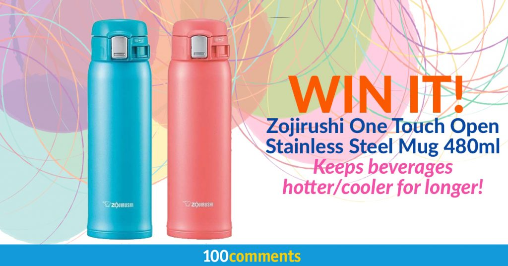 Zojirushi One Touch Open Stainless Steel Mug Contest