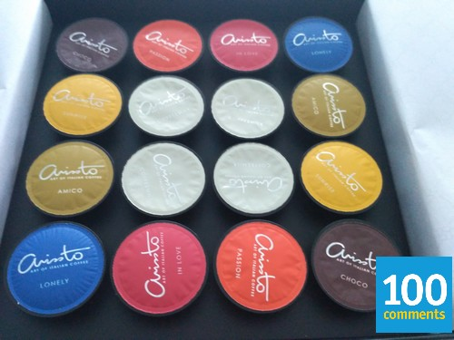 Arissto Coffee Machine - flavours