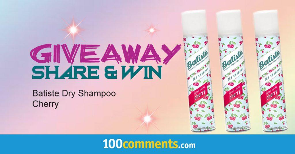 Batiste Dry Shampoo Cherry Contest