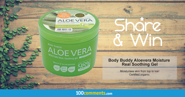 Body Buddy Aloe Vera Moisture Real Soothing Gel Contest