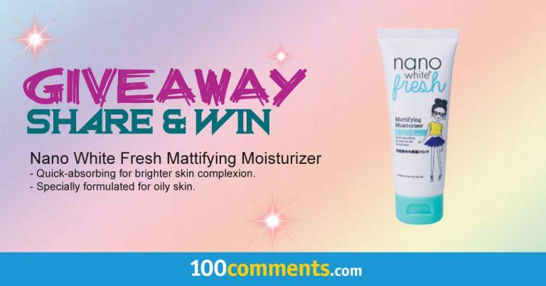 Nano White Fresh Mattifying Moisturizer Contest