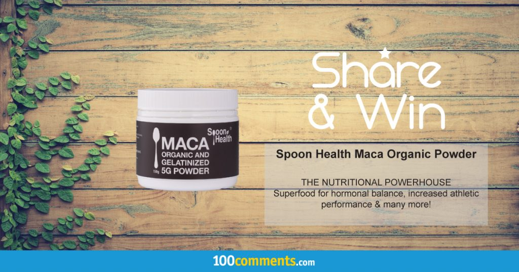 Spoon Health Organic Maca Powder Contest