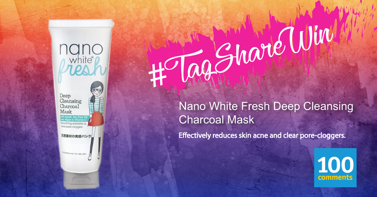 Nano White Fresh Deep Cleansing Charcoal Mask Contest