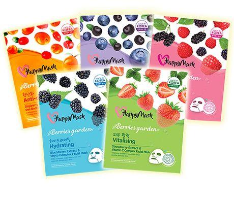 HappyMask Berries Garden Face Mask
