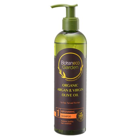Botaneco Garden Organic Argan & Virgin Olive Oil Replenishing Shampoo