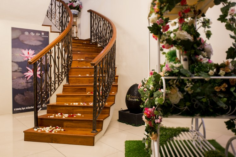 The romantic stairway at the reception area leading to the blissful therapy rooms and wonderful treatments ahead!