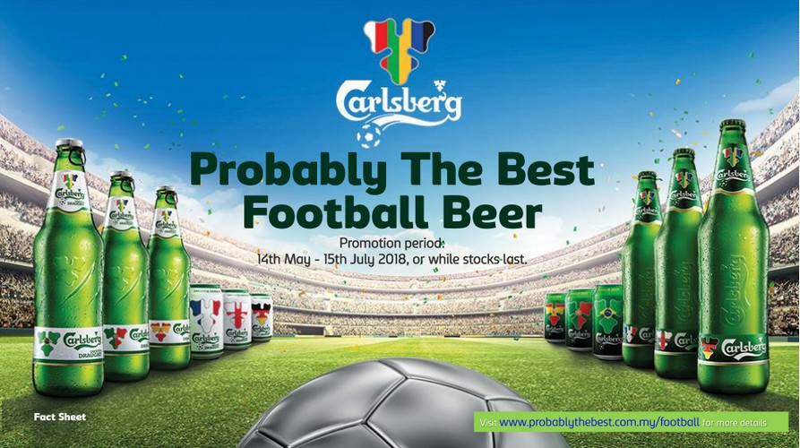 Probably the best football beer - Carlsberg