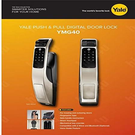 Yale Ymg40 Push Amp Pull Biometric Fingerprint Digital Door