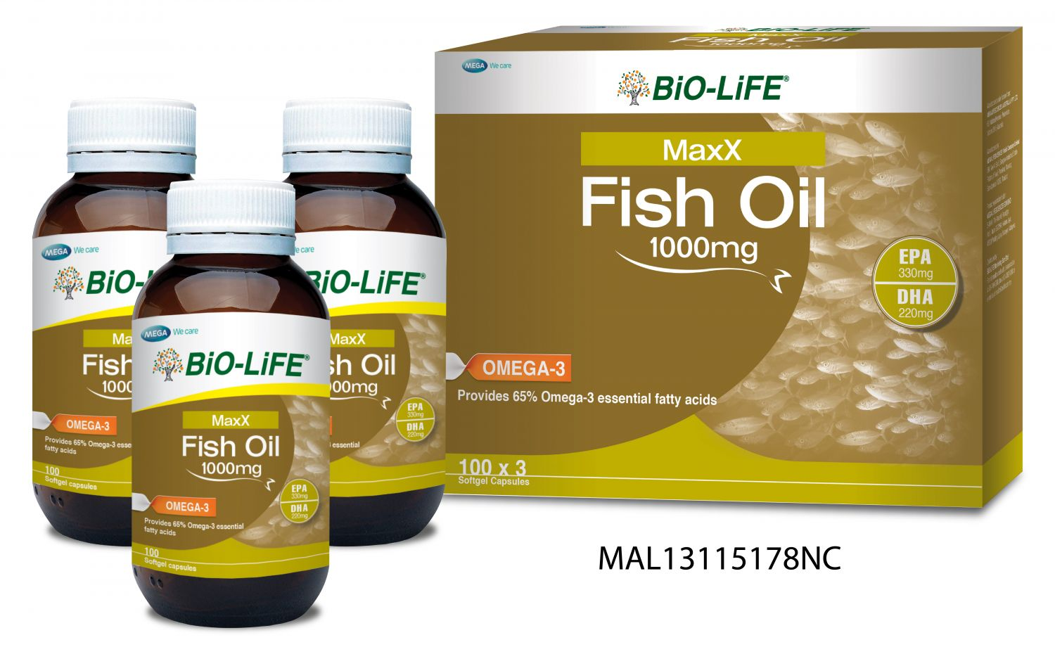 bio-life maxx fish oil - made from high strength quality fish oil
