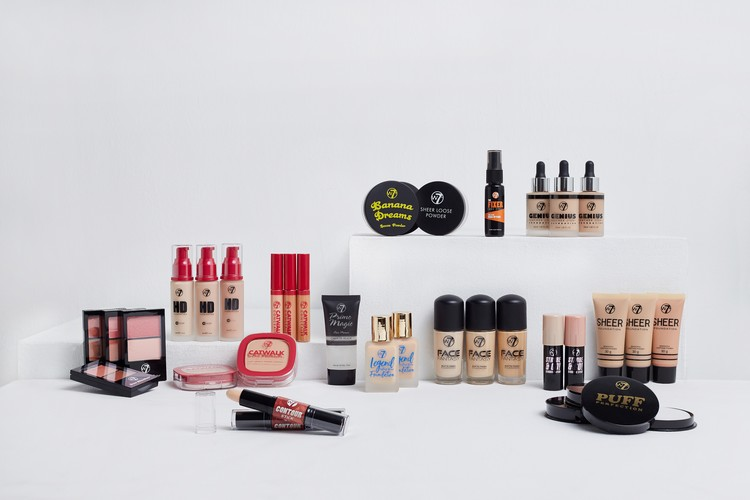W7 face makeup range