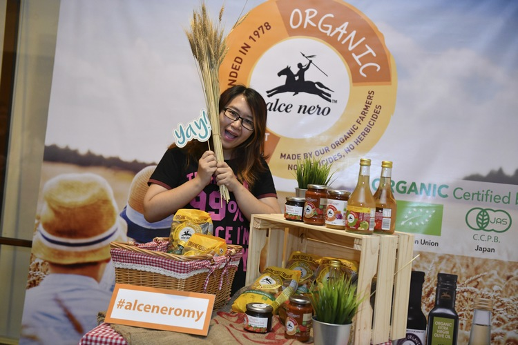 She loves Alce Nero's range of organic products!