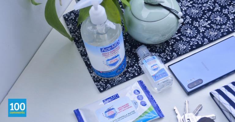 AceMD hand sanitiser & wet wipes
