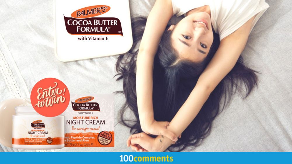 Palmer's Cocoa Butter Formula with Vitamin E Moisture Rich Night Cream contest
