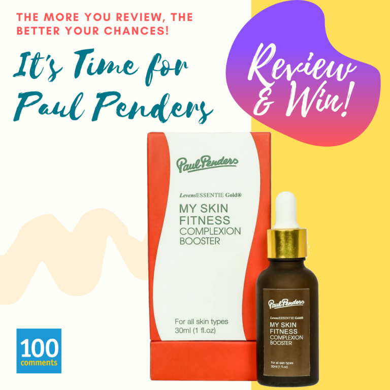 Paul Penders My Skin Fitness Complexion Booster Review & Win Giveaway