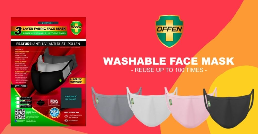 offen 3 layer fabric mask