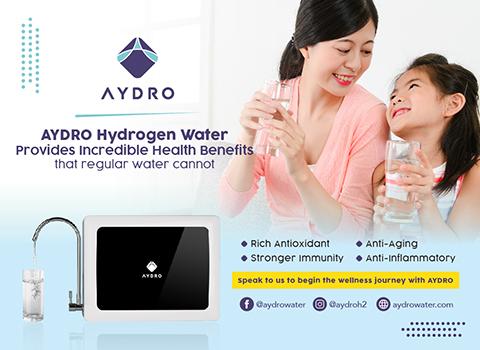 Water has never been healthier with AYDRO Hydrogen Water Generator