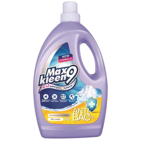 Maxkleen9 2in1 Detergent + Softener (Anti-Bacterial)