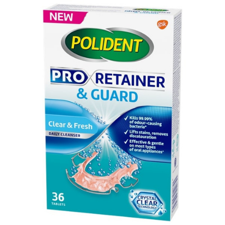Polident Pro Retainer & Guard Cleanser for Mouth Guard & Retainer Wearers