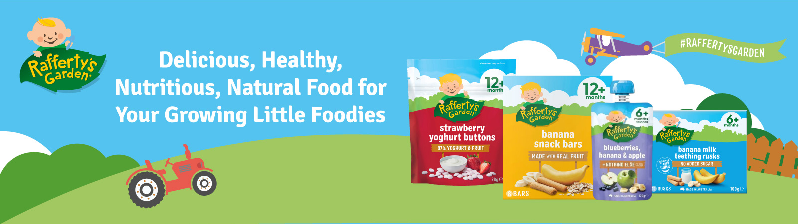 Rafferty's Garden Baby Purees: Because babies should love the taste of real food