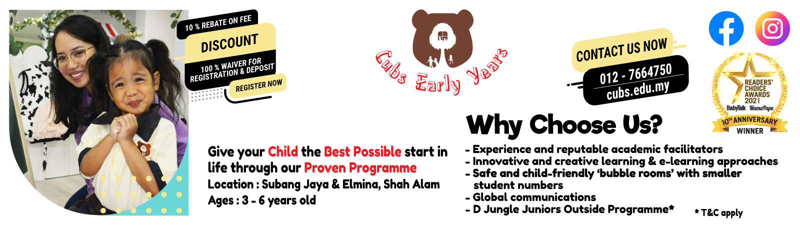 Cubs Early Years: For the enriched learning experience your child deserves